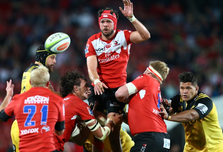 A file photo of Warren Whiteley of the Emirates Lions in the lineout during the Super Rugby match between Emirates Lions and Hurricanes at Emirates Airline Park on April 30, 2016 in Johannesburg, South Africa.
