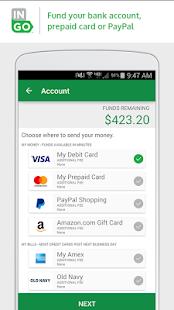 screenshot image - Mobile Check Deposit Prepaid Card