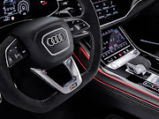 The interior gets signature Audi Sport embellishments like sports seats clad in Nappa and Alcantara, a flat-bottom steeering wheel, and RS logos. Picture: SUPPLIED
