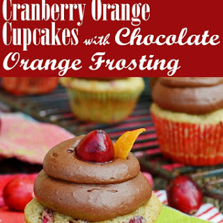 Cranberry Orange Cupcakes with Chocolate Orange Frosting