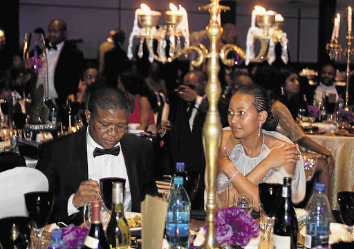 Minister of Sport Fikile Mbalula and his wife Nozuko celebrate his 40th birthday in Centurion, Tshwane Picture: JAMES OATWAY