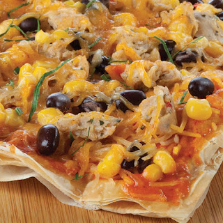 Mexican Phyllo Pizza.