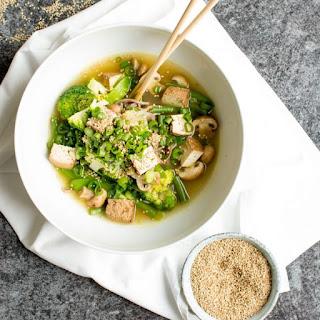 Vegan Miso Noodle Soup.