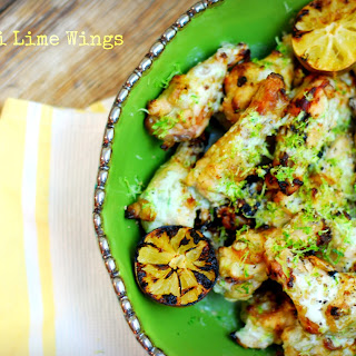 Wasabi Lime Chicken Wings.