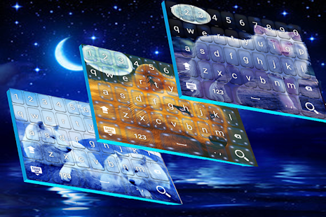 Starry Wolf Keyboard HD - náhled