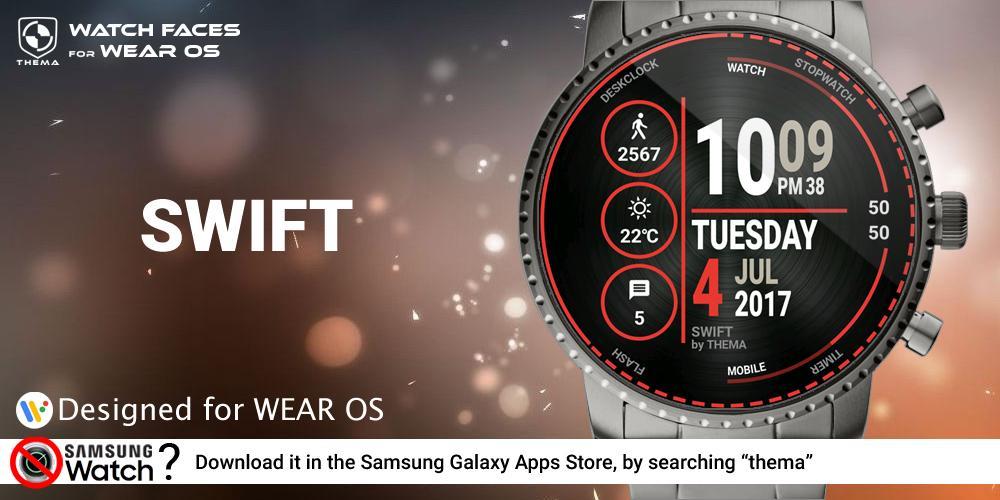Swift Watch Face & Clock Widget Android App Screenshot