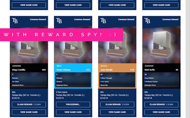 MLB Crypto Baseball Reward Spy