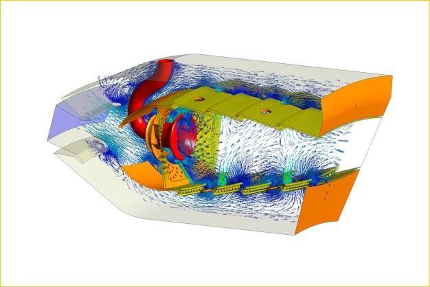 ANSYS - Моделирование процессов в камере сгорания газовой турбины