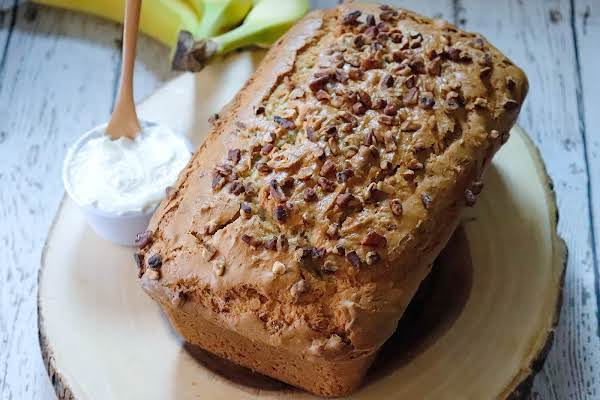 A Loaf Of Yummy Banana Nut Bread.