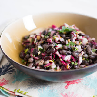 Bean Salad With Radicchio, Radish, Pickled Onions, and Marcona Almonds