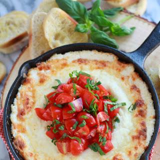 Warm Four Cheese Tomato Basil Dip.