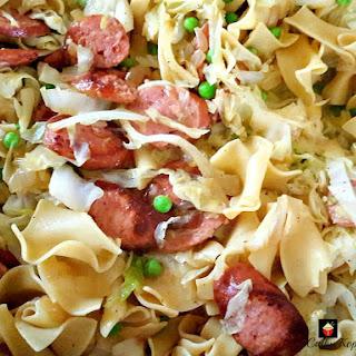 Polish Cabbage and Noodles, Haluski.