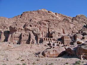 Photo: The Royal Tombs.  The center tomb is the Urn Tomb which some historians say houses the Nabatean King Malchus II who died in 70 A.D.