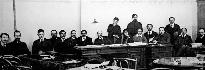 Lenin im neu eingerichteten Rat der Volkskommissare (Petrograd, 10. März 1918)