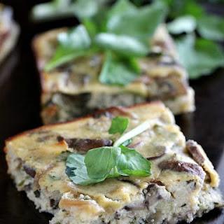 Mushroom Feta Crustless Quiche