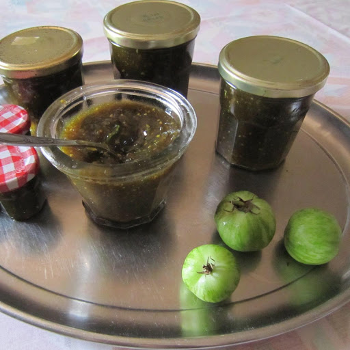 Green tomato chutney from the garden