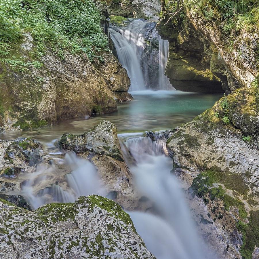 Sunikov gaj by Jaro Miščevič - Landscapes Waterscapes ( flora, waterfall, stone, stones, colours, river )