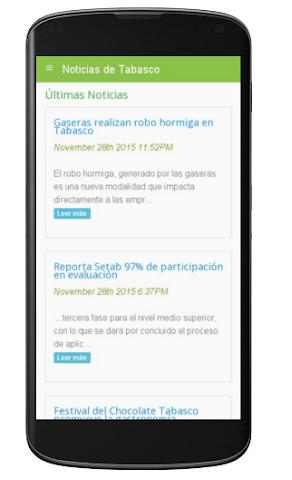 android Noticias de Tabasco Screenshot 0