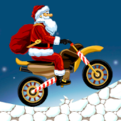 Santa Motorcycle Hill Climb