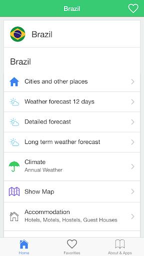 巴西天氣,旅行