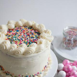 Vanilla Bean Homemade Funfetti Cake for Melrose Family