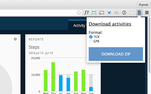 Garmin activity downloader