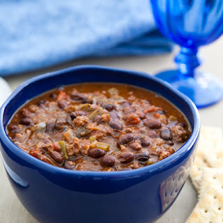 Slow Cooker Black Bean Lamb Chili