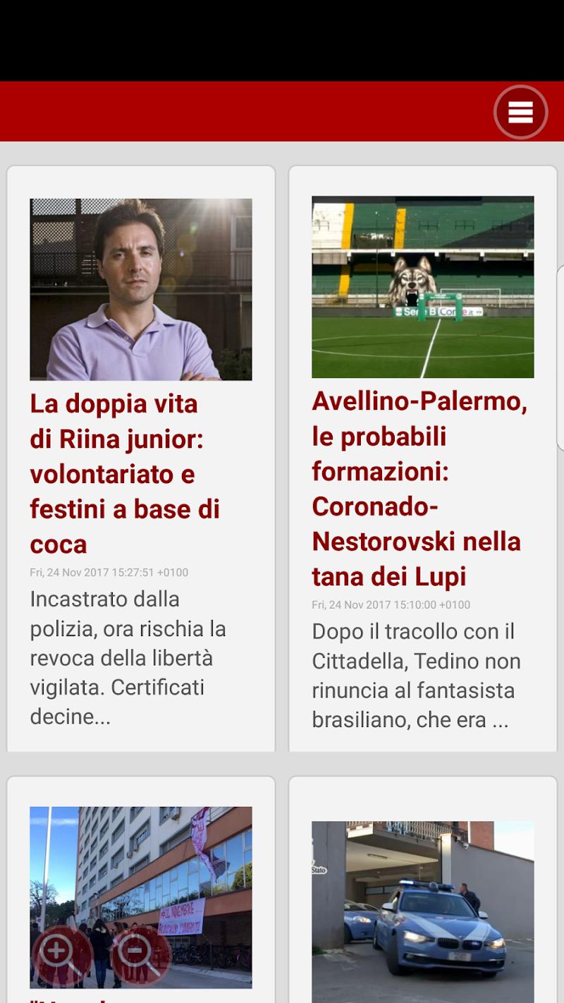 Скриншот Notizie di Palermo