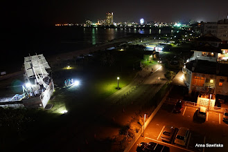 Photo: Night view of Chatan (Araha Beach)