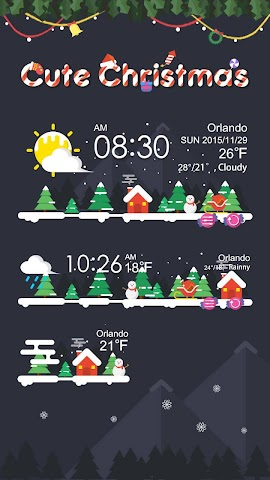 android Christmas Weather Widget Theme Screenshot 0