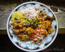 Photo: A plate at the Ashram in Jaffna