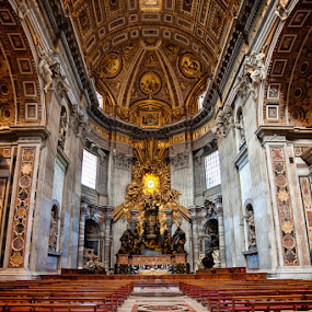 St Peter Basilica by Jun  Gomez - Buildings & Architecture Other Interior ( hdr, st peter, basilica )