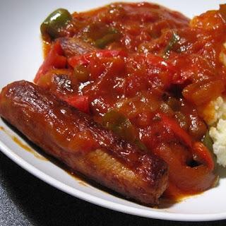 Slow Cooker Sausage-Pepper Casserole.