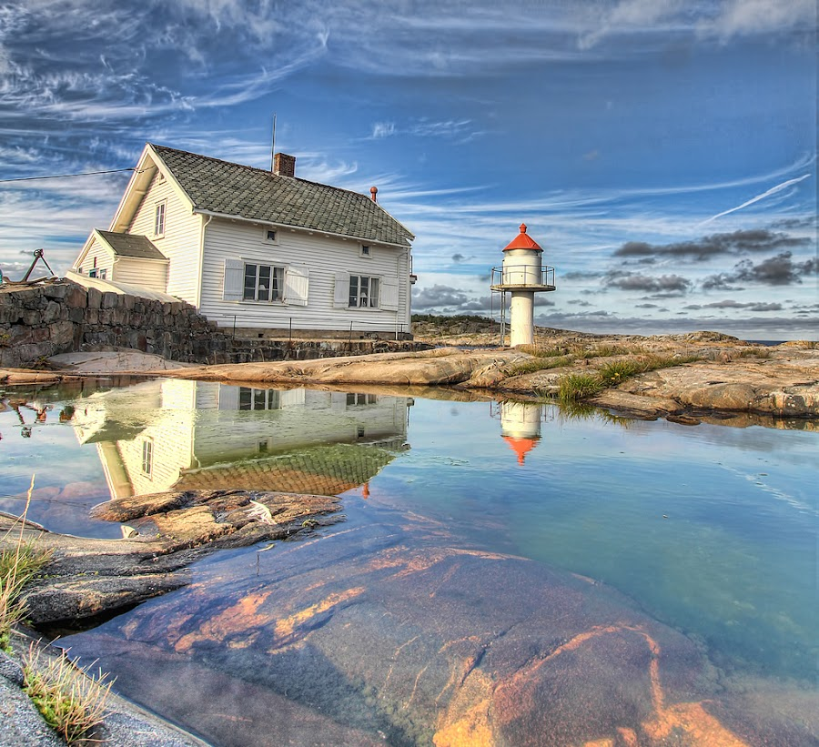 Stangholmen Lighthouse  - Risør, Norway by Jan Kiese - Buildings & Architecture Public & Historical ( lighthouse )
