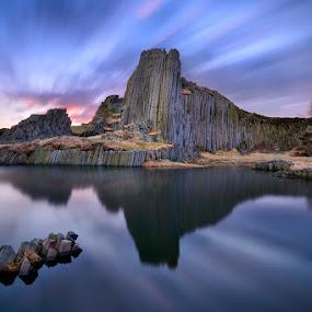 Vulcanic beauty by Pavel Klásek - Landscapes Mountains & Hills ( water, nd1000x, panska, sky, fly, skala, czech, cloud, stone, lake, rock, view, country )
