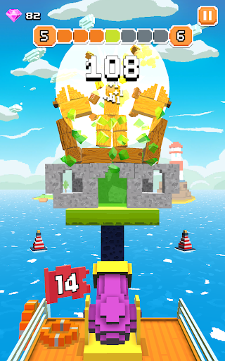 Blocky Tower - Knock Box Balls Ultimate Knock Out android2mod screenshots 20