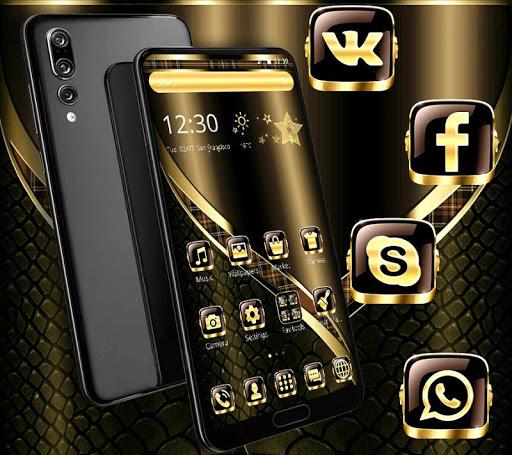Black Golden Brown Theme screenshots 2