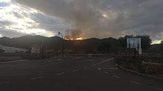 Imagen del incendio declarado esta tarde en el paraje nijareño.