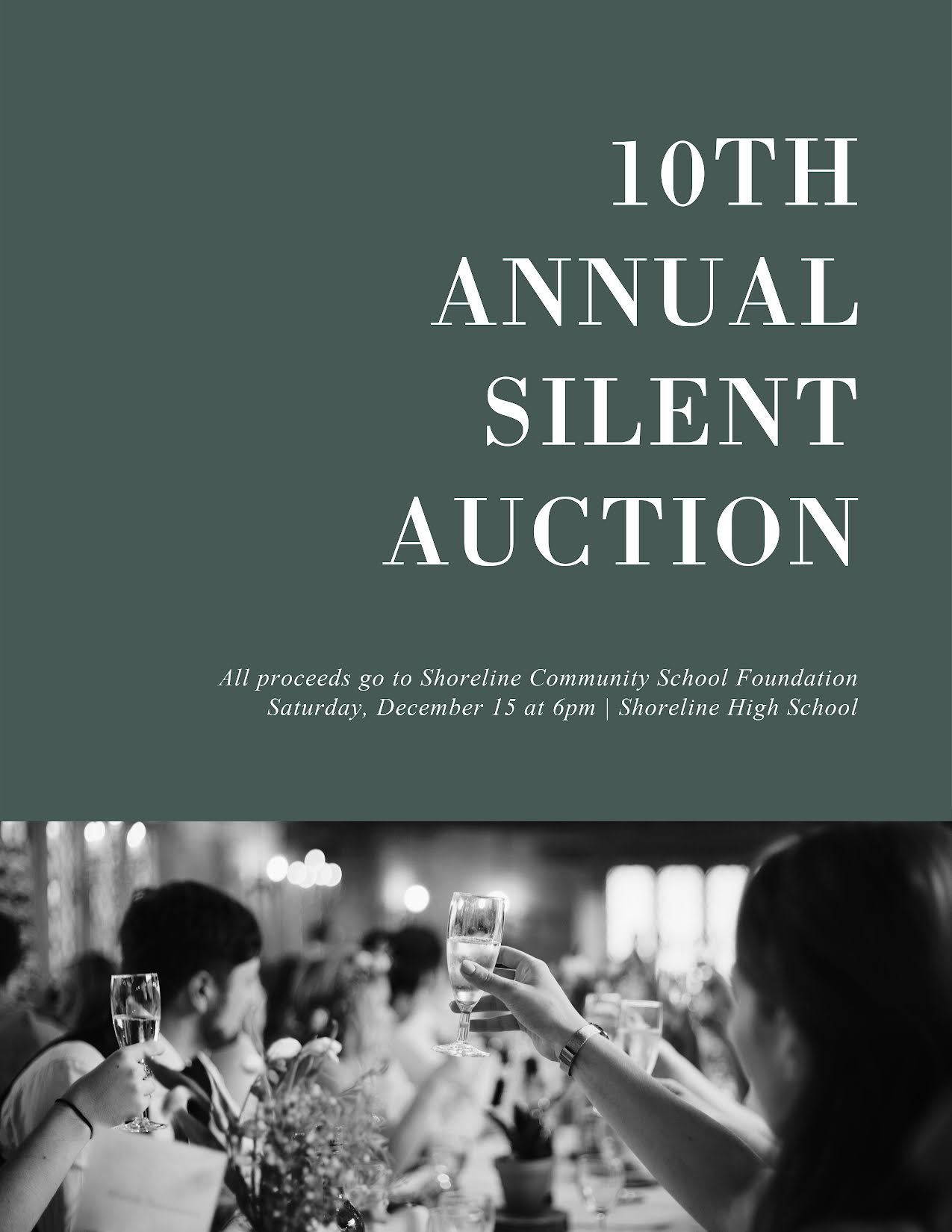 10th Annual Silent Auction - Flyer Template