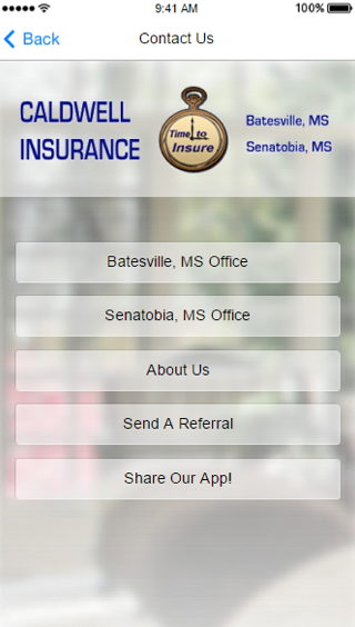 Caldwell Insurance- screenshot