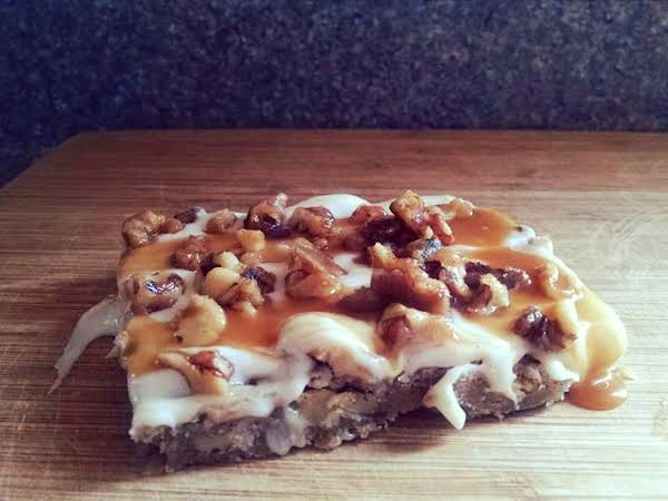 Maple Spice Blondies With Walnuts & Salted Caramel Recipe