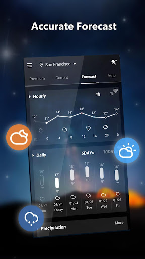 GO Weather Lite - Forecast, Widget, Light 1.1 screenshots 2