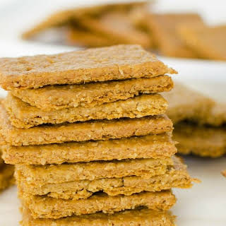 Crispy Crunchy Chickpea and Oat Crackers.