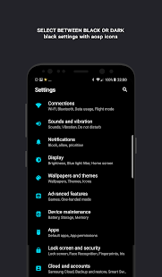 Swift for Samsung - Dark & Black Substratum Theme Screenshot