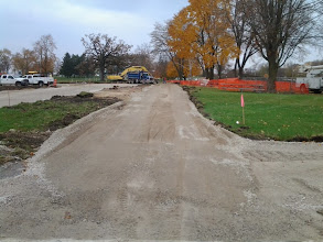 Photo: New path along entrance drive 11-11-2013