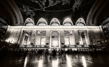 Photo: Grand Central Station  I just left New York city to come to Los Angeles to prepare for the upcoming Burning Man! While here inside Grand Central, I did indeed get asked to leave right after I took this photo because I was using a tripod. This happens quite a bit... and yes yes I know I could have gotten a permit.... no need to leave those comments... (I know)