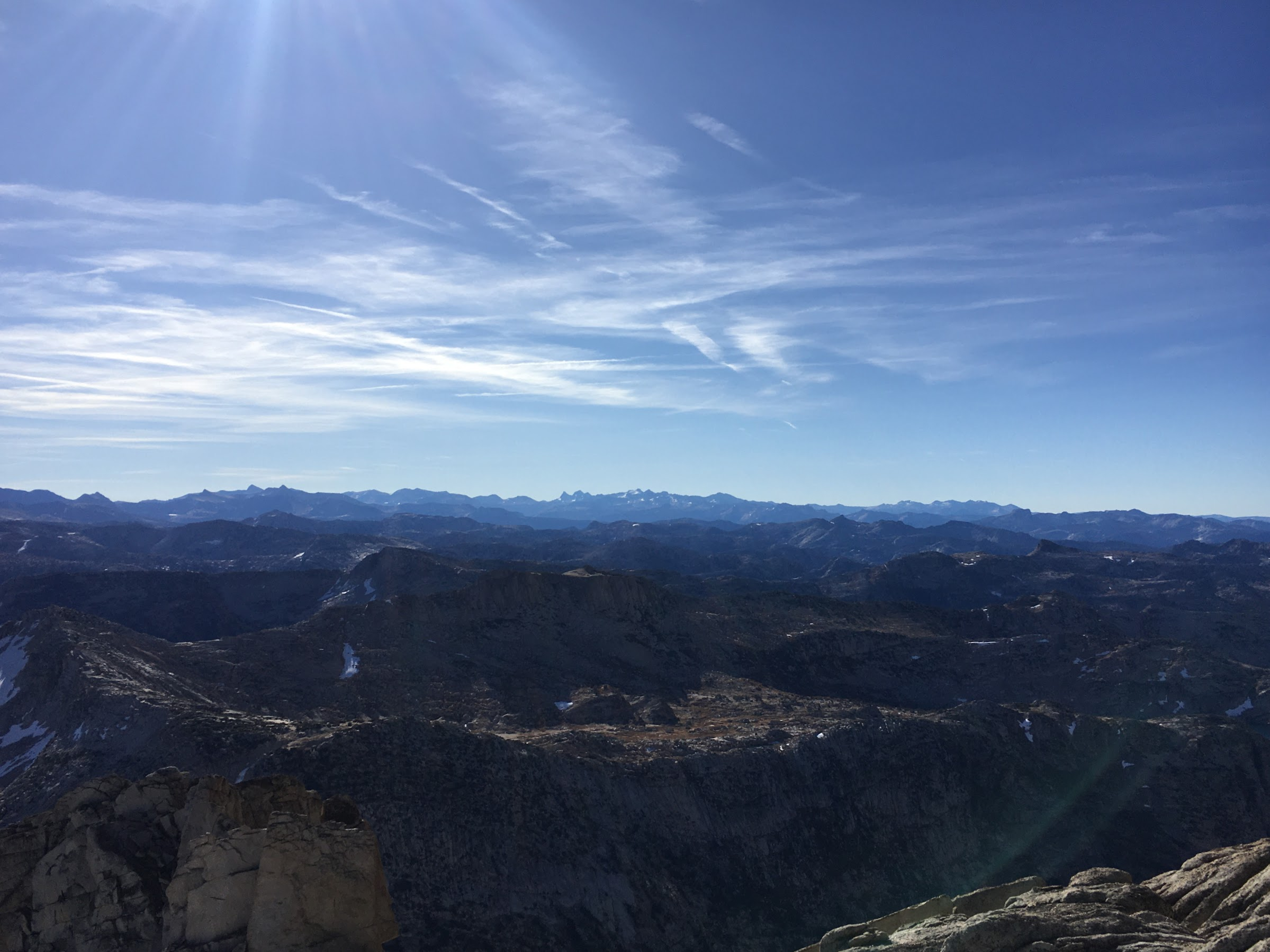 The high peaks of Yosemite from the summit of Tower Peak