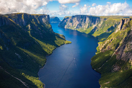 Hauntingly beautiful Western Brook Pond Gorge in western Newfoundland.