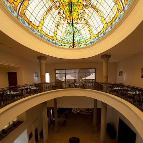 dome in hotel by Cristobal Garciaferro Rubio - Buildings & Architecture Other Interior ( reflection, presidente, mexico, puebla, dome, hotel )