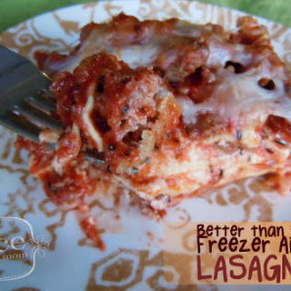 Copy Cat Stouffer's Lasagna.